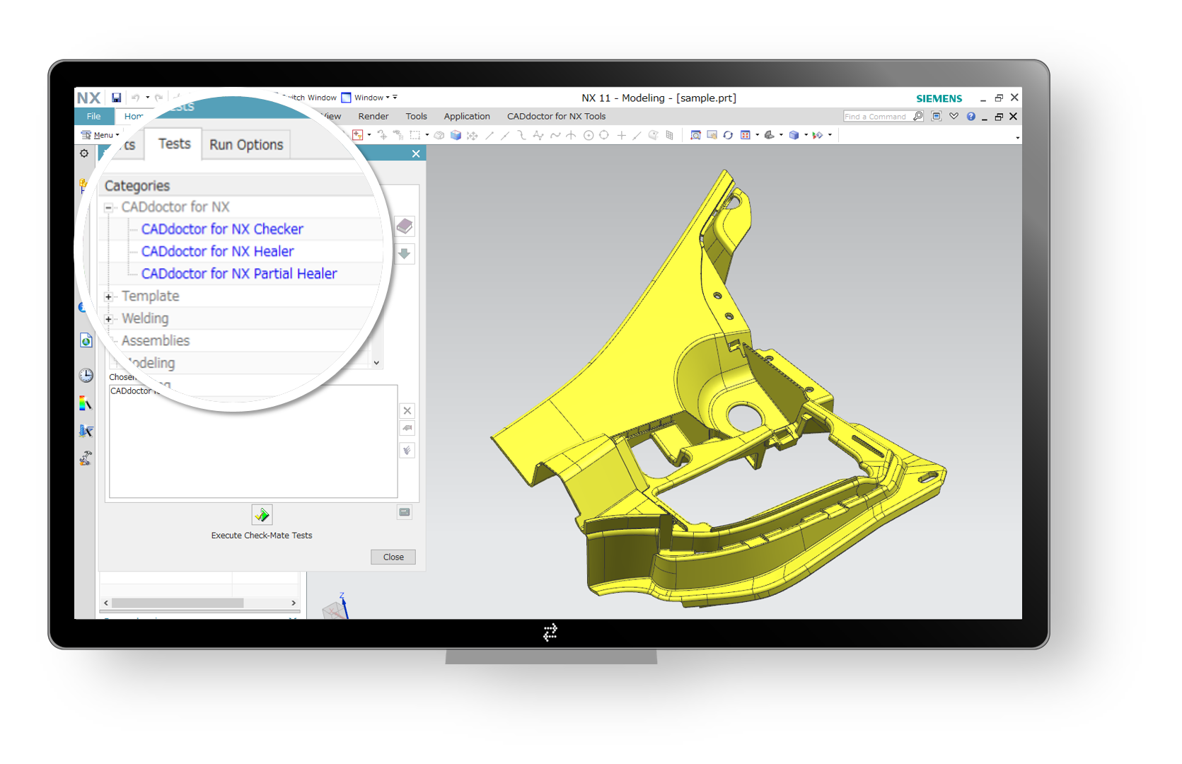 PDQ Verification and Repair Plug-in for NX | CADdoctor for