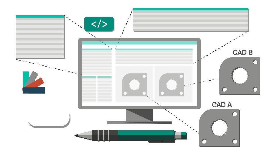 CADの属性情報・PMIの自動編集