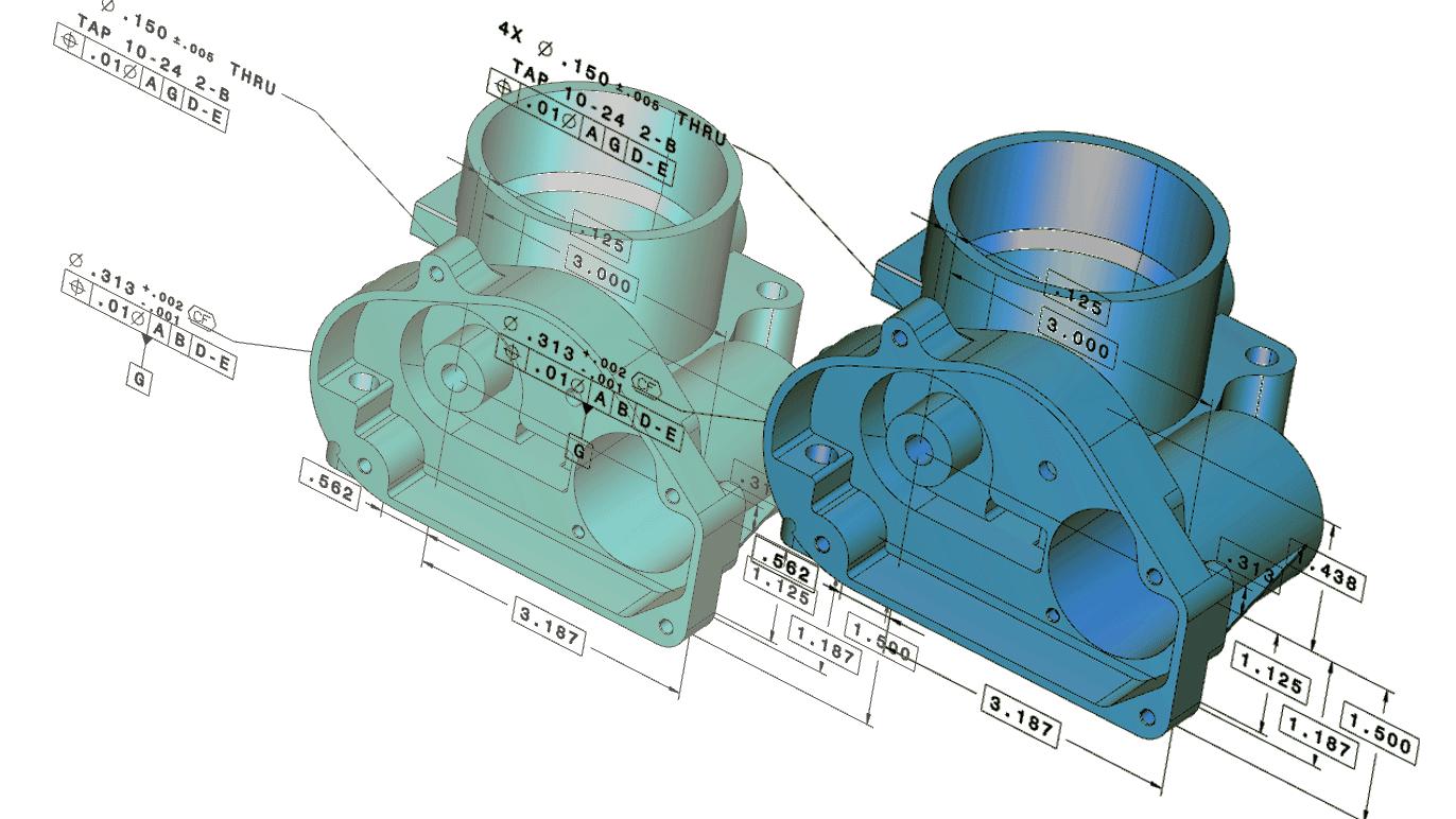 設変前後の CADモデルの比較